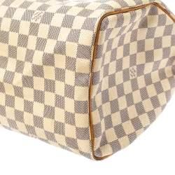 Louis Vuitton Damier Azur Canvas Speedy 35 Bag