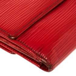 Louis Vuitton Red Epi Leather Elise Wallet
