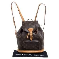 Louis Vuitton Monogram Canvas Montsouris MM Backpack Bag