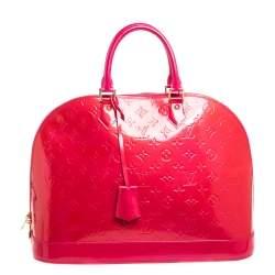Louis Vuitton Rose Pop Monogram Vernis Alma GM Bag