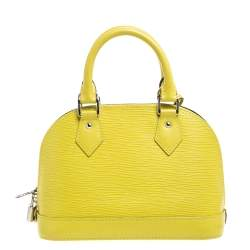Louis Vuitton Pistache Epi Leather Alma BB Bag