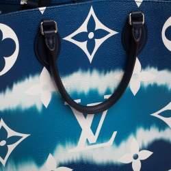 حقيبة لوى فيتون أونثيغو كانفاس مقوى مونوغرامية زرقاء GM