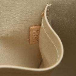 Louis Vuitton Cream Monogram Vernis Alma PM Bag