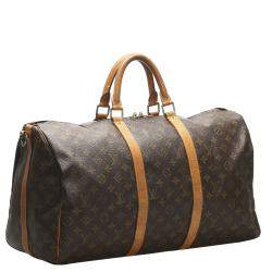 Louis Vuitton Monogram Canvas Keepall Bandouliere 50 Bag