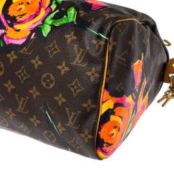 Louis Vuitton Multicolor Monogram Canvas Limited Edition Stephen Sprouse Roses Speedy 30 Bag