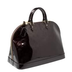 Louis Vuitton Amarante Monogram Vernis Alma Voyager Bag