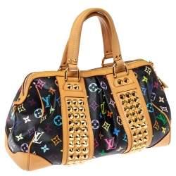 Louis Vuitton Black Multicolore Monogram Canvas Courtney MM Bag