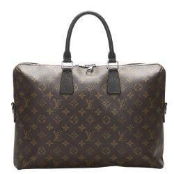 Louis Vuitton Brown Monogram Canvas Macassar Porte-Documents Jour Bag