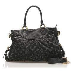 Louis Vuitton Black Monogram Denim Neo Cabby MM bag