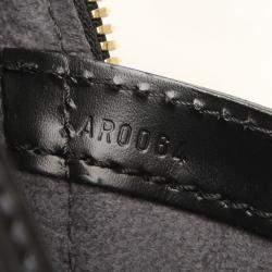 Louis Vuitton Black Epi Leather Lussac Tote Bag
