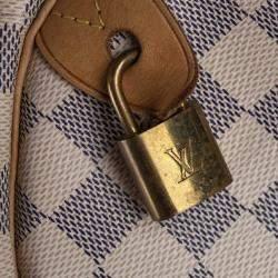 Louis Vuitton White Damier Azur Canvas Speedy 35 Bag