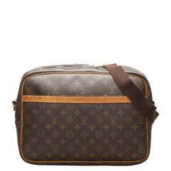 Louis Vuitton Brown Monogram Canvas Reporter GM Bag