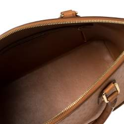 Louis Vuitton Cognac Ostrich Lockit MM Bag