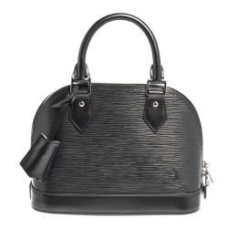 Louis Vuitton Anthracite Nacre Epi Leather Alma BB Bag