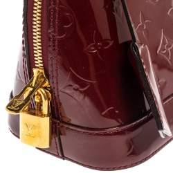 Louis Vuitton Pomme D'amour Monogram Vernis Alma BB Bag
