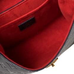 Louis Vuitton Marine Rouge Monogram Empreinte Leather Saint Sulpice PM Bag
