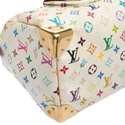 Louis Vuitton White Monogram Multicolore Canvas Speedy 30 Bag