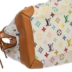 Louis Vuitton White Monogram Multicolore Canvas Ursula Bag