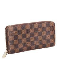 Louis Vuitton Brown/Tan Damier Ebene Canvas Zippy Organizer Wallet
