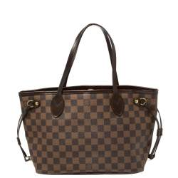 Louis Vuitton Damier Ebene Canvas Neverfull PM Bag