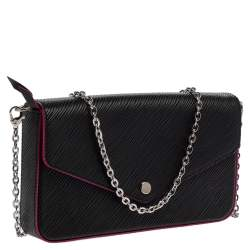 Louis Vuitton Black Epi Leather Felicie Pochette