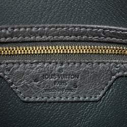 Louis Vuitton Gris Ostrich Alma GM Bag