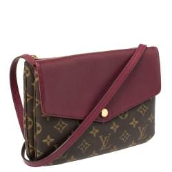 Louis Vuitton Aurore Monogram Canvas and Leather Twinset Bag