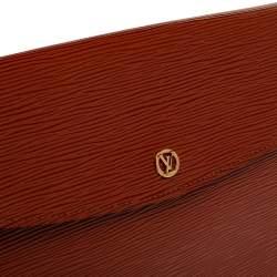 Louis Vuitton Brown Epi Leather Vintage Montaigne Clutch
