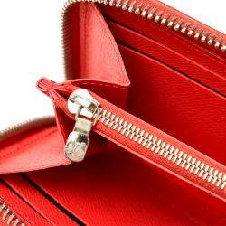 Louis Vuitton Red Epi Leather Clemence Wallet