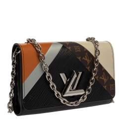 Louis Vuitton Block Color Monogram Epi Leather Twist Tape Chain Clutch