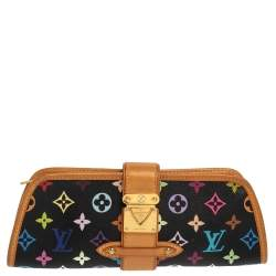 Louis Vuitton Black Monogram Multicolore Canvas Shirley Clutch