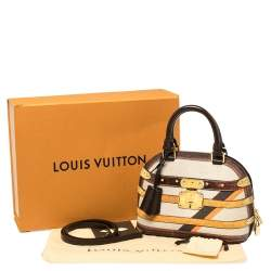 Louis Vuitton Beige Printed Canvas Time Trunk Alma BB Bag