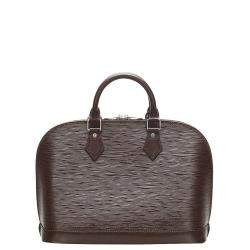 Louis Vuitton Brown Epi Leather Alma PM Bag