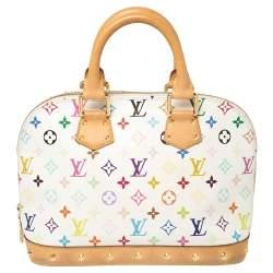 Louis Vuitton White Multicolore Monogram Canvas Alma PM Bag
