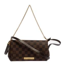 Louis Vuitton Damier Ebene Canvas Favorite PM Bag