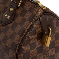 Louis Vuitton Damier Ebene Canvas Speedy NM 25 Bag