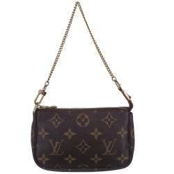 Louis Vuitton Brown Monogram Canvas Pochette Accessoires Mini Bag