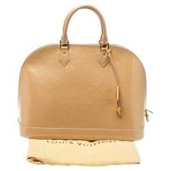 Louis Vuitton Rose Florentine Monogram Vernis Leather Alma GM Bag