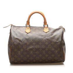 Louis Vuitton Brown Monogram Canvas Speedy 35 Bag