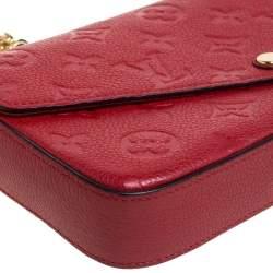 Louis Vuitton Cerise Monogram Empreinte Leather Pochette Felicie Bag