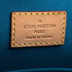 Louis Vuitton Blue Galactic Monogram Vernis Alma GM Bag