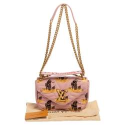 Louis Vuitton Smoothie Pink Quilted Leather New Wave Chain Printed PM Bag