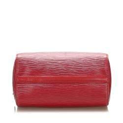 Louis Vuitton Red Epi Leather Speedy 25 Bag