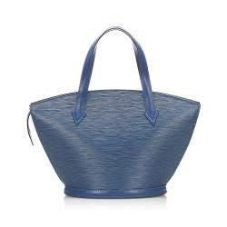 Louis Vuitton Blue Epi Leather Saint Jacques Short Strap PM Bag