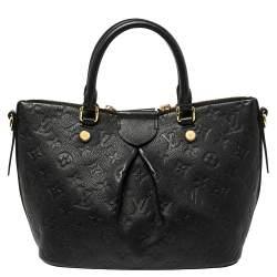 Louis Vuitton Black Monogram Empreinte Leather Mazarine PM Bag