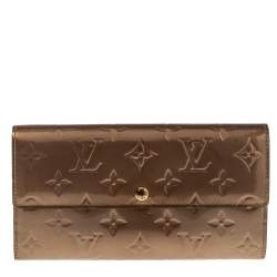 Louis Vuitton Rose Florentine Monogram Vernis Sarah Wallet