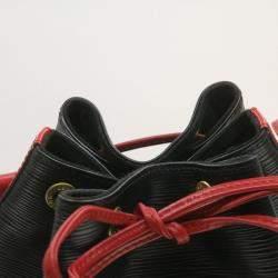 Louis Vuitton Black/Red Epi Leather Noe Bag