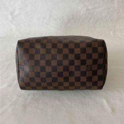 Louis Vuitton Brown Damier Ebene Canvas Speedy 25 Bag
