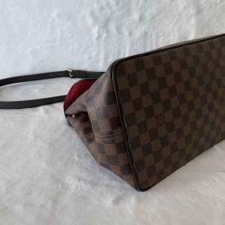 Louis Vuitton Brown Damier Ebene Canvas Bergamo MM Bag