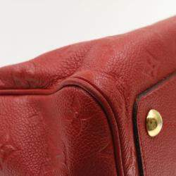 Louis Vuitton Red Empreinte Leather Speedy Bandouliere 25 Bag